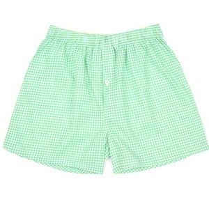 NWT Malabar Bay Men's Lime Gingham Boxer Shorts